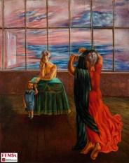 Juan Soriano, Retrato de Lola Álvarez con Juan Soriano niño, 1944. Colección FEMSA