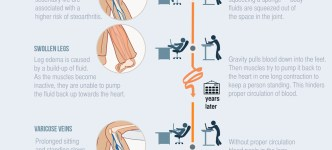 Why prolonged sitting and standing is unproductive infographic