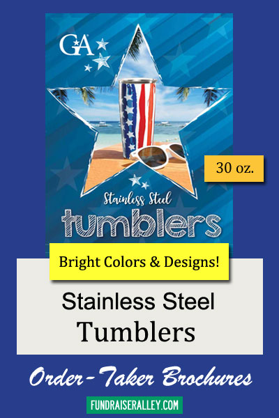 Stainless Steel Tumblers Fundraising Brochures \u2013 Fundraiser Alley