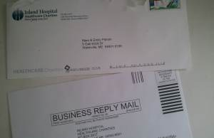 Direct Mail Return Envelope for Fundraising Letters