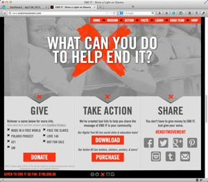 CLICK HERE TO ENLARGE THIS IMAGE. Social media excellence #3- #enditmovement gives excellent sharing options