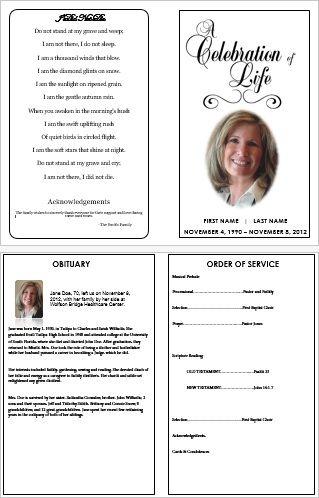 funeral programme format - Solidgraphikworks - program for a funeral