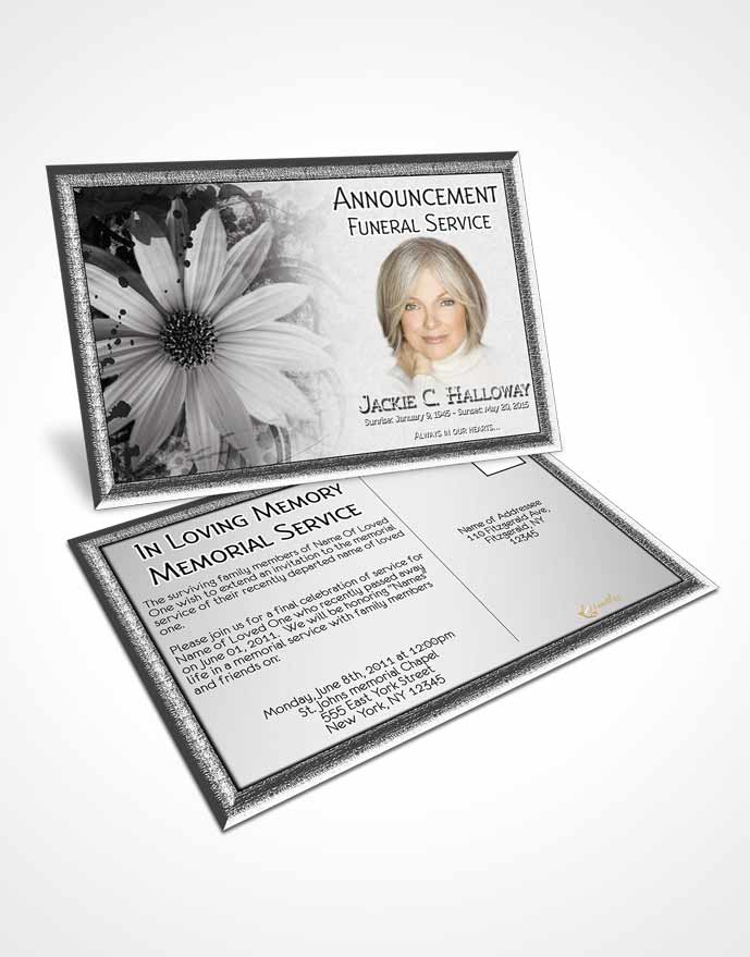 Bifold Order of Service Obituary Template Brochure Black and White - funeral service announcement template