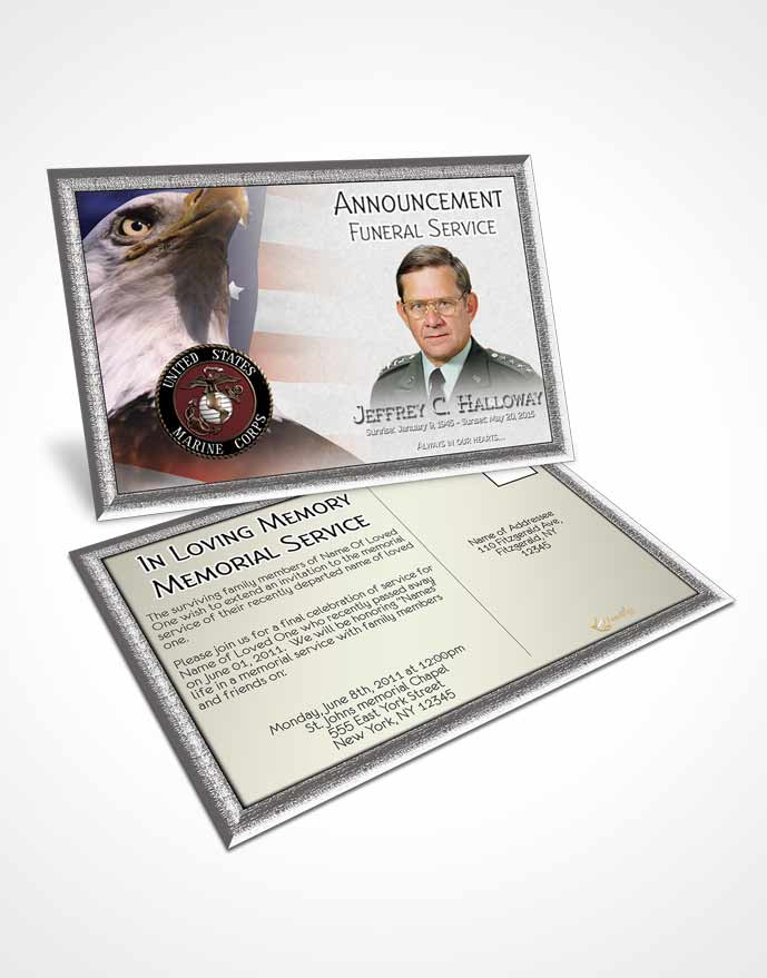 2 Page Graduated Step Fold Funeral Program Template Brochure Going - funeral service announcement template