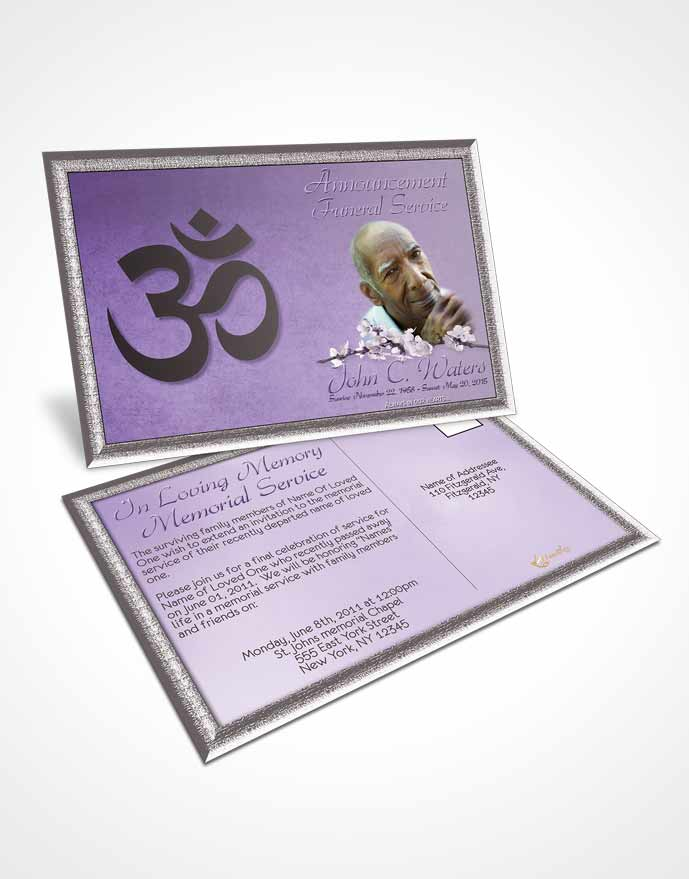 2 Page Graduated Step Fold Funeral Program Template Brochure Hindu - Funeral Announcements Template
