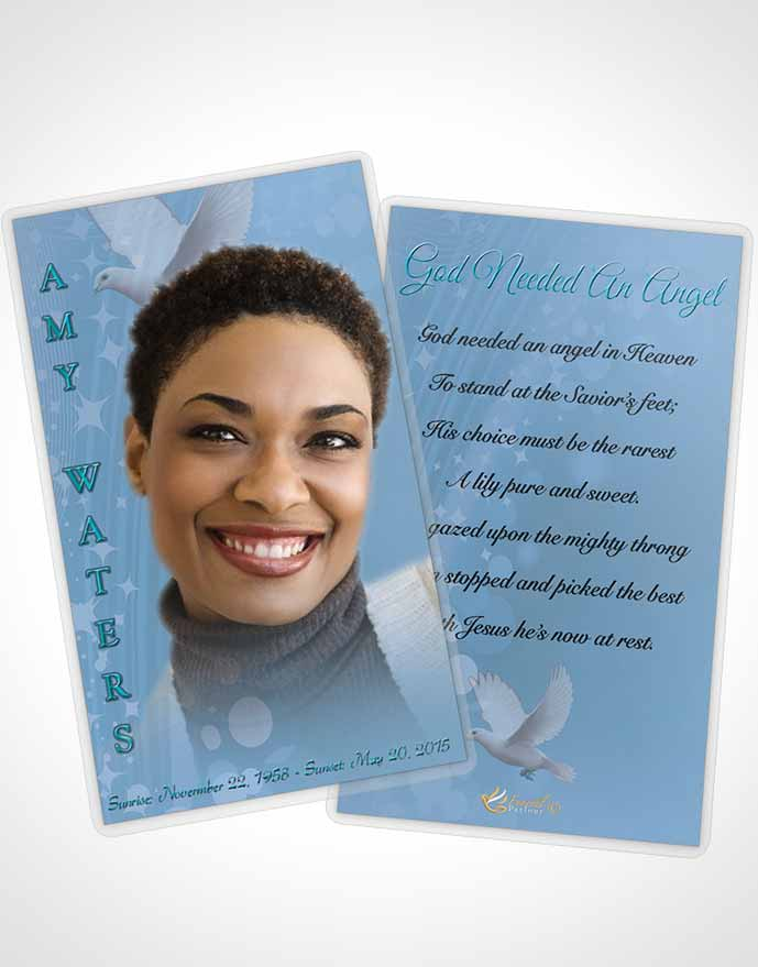 Prayer Card Template Free Spirit Morning Calm - prayer card template free