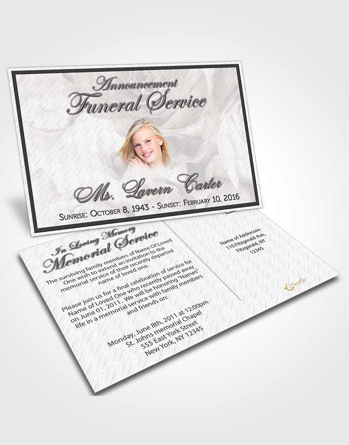Obituary Template Trifold Brochure Free Petals in the Wind - funeral announcement template free