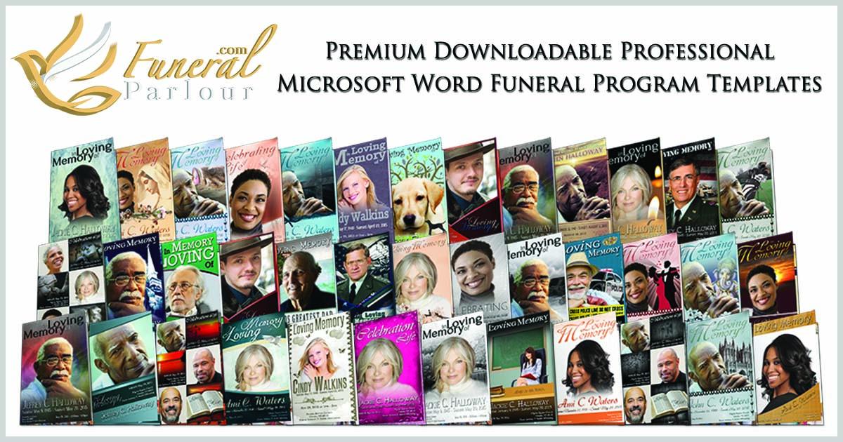 Funeral Program Templates - Editable Word Templates \u2022 FuneralParlour - funeral programs samples