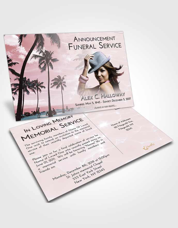 Announcement Card Template Morning Tropical Breeze