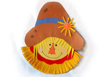 Paper Plate Scarecrow Fun Family Crafts