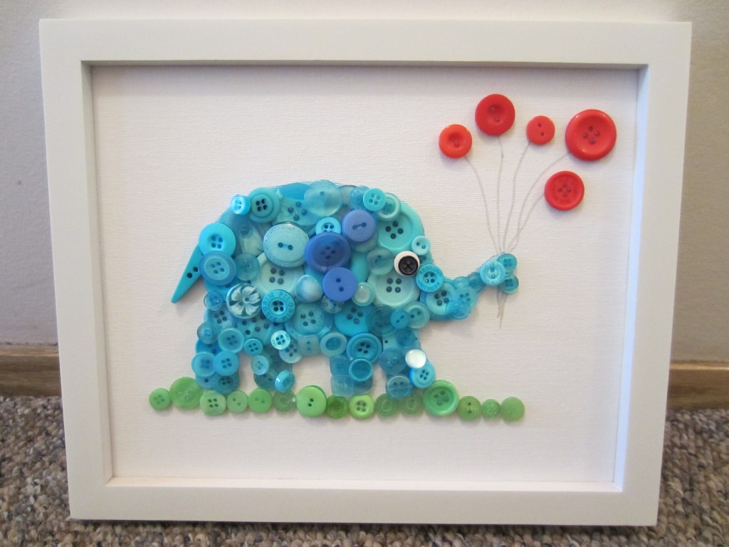 Vender Un Cuadro Button Elephant Fun Family Crafts