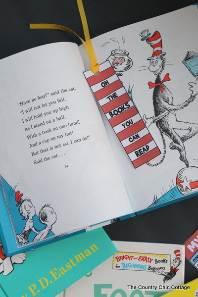 Dr Seuss Bookmark and Reading Log Printable Fun Family Crafts