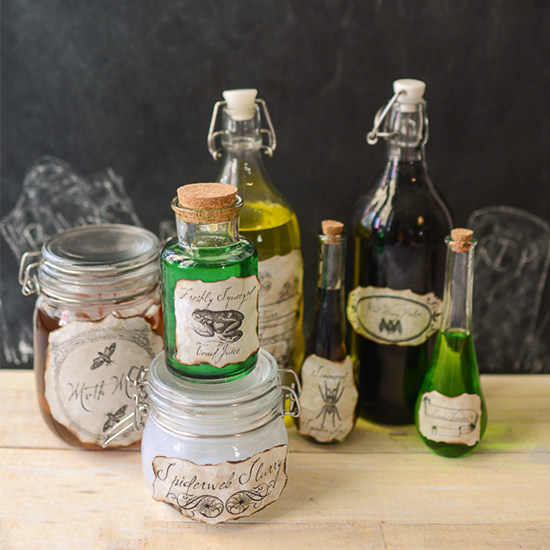 Printable Potion Labels Fun Family Crafts