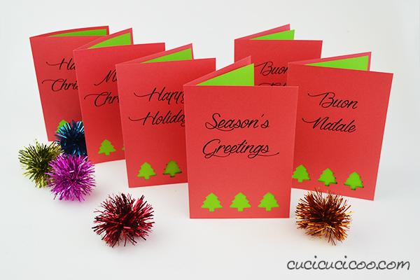 Printable Holiday Cards with Punched Cutouts Fun Family Crafts