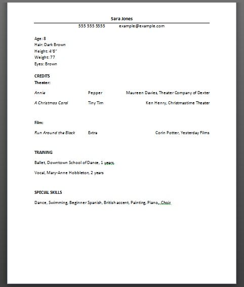 model resume example model resume for electrical engineer fashion ...