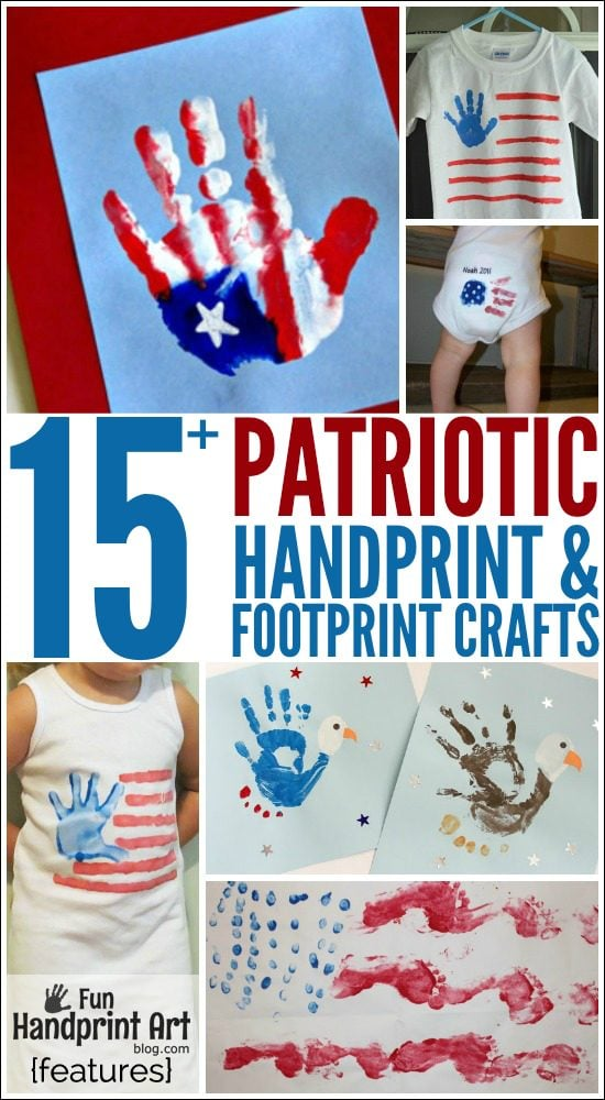15+ Fun 4th of July Handprint Crafts, Shirts, Canvas, Flags,  more