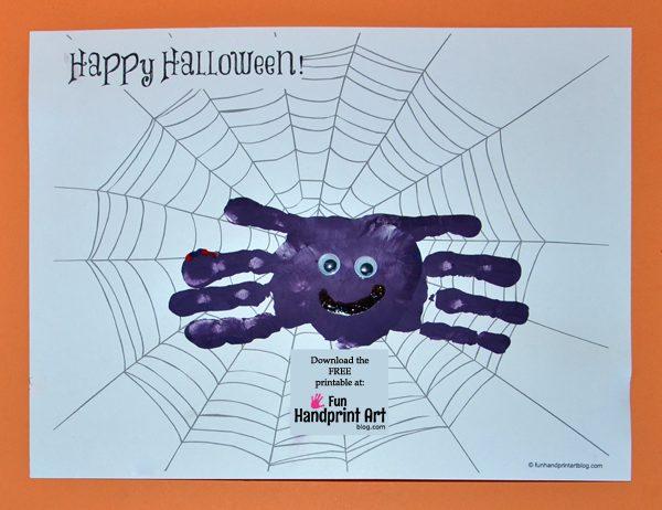 Free Printable Spider Webs for making Handprint Spider Halloween Cards