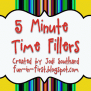 5 Minute Time Fillers Fun In First