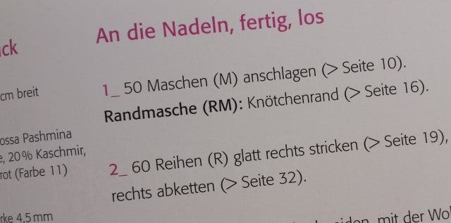 Auszug aus Nina Schweisguts Schnellstrick-Buch