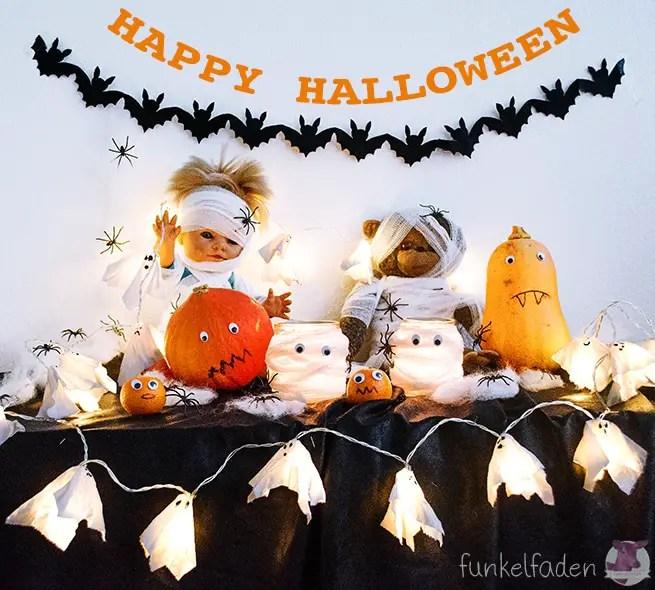 Halloween DIYs - Fledermausgirlande
