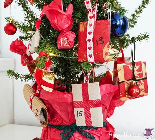 diy weihnachtsbaum adventskalender anleitungen do it. Black Bedroom Furniture Sets. Home Design Ideas