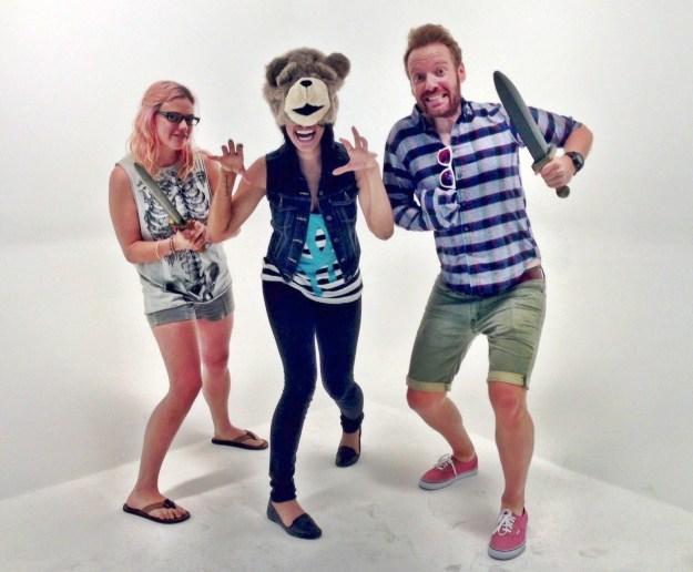 Tiffany as the bear. Ethan is the brave Jamie Lannister to my scared Brienne.
