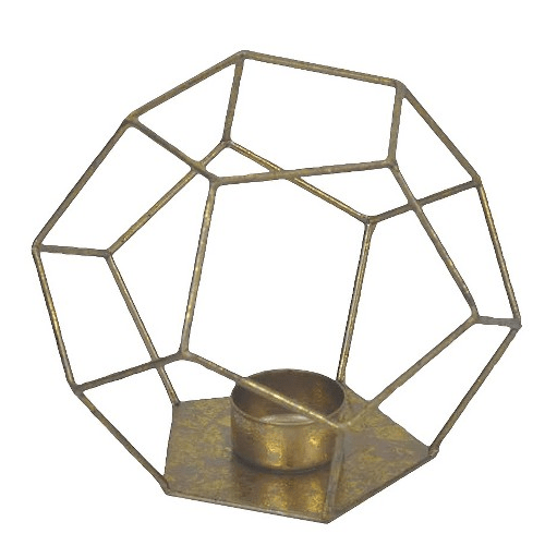 Nate Berkus Gold Geometric Votive Holder