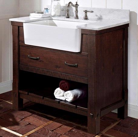 "I loved this Fairmont Designs Napa 36"" Farmhouse Vanity SO MUCH that I considered doing dual vanities next to each other for while. But ultimately wanted more counter space."