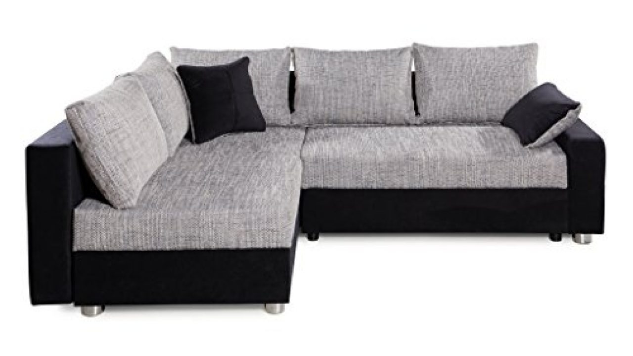 Collection Ab Piacenza Ecksofa Stoff Schwarz Grau 161 X 224 X 83 Cm