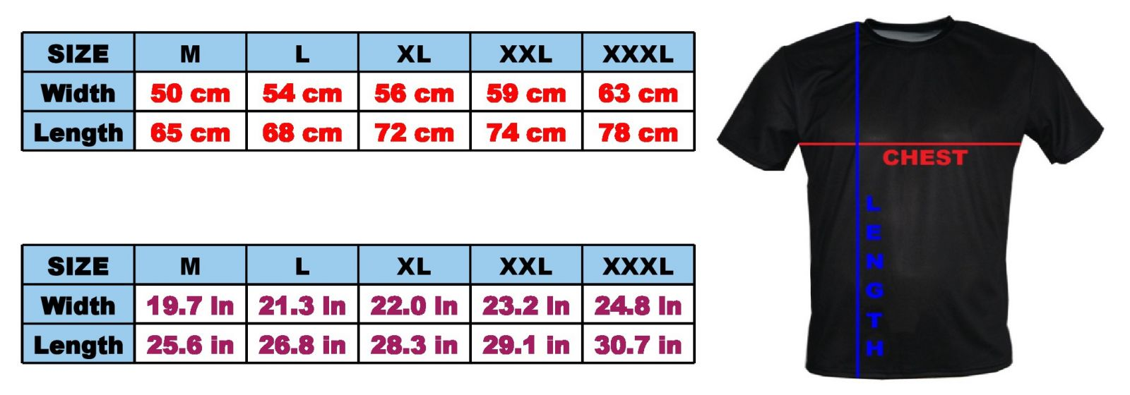 Size M Size Guide T Shirts With All Kind Of Auto Moto Cartoons And