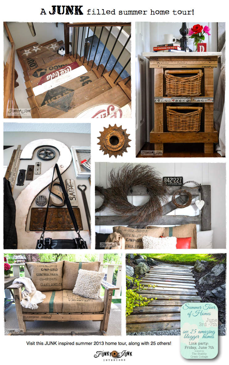 A Junk Filled Summer Home Decorating Tour Funky Junk Interiorsfunky Junk Interiors