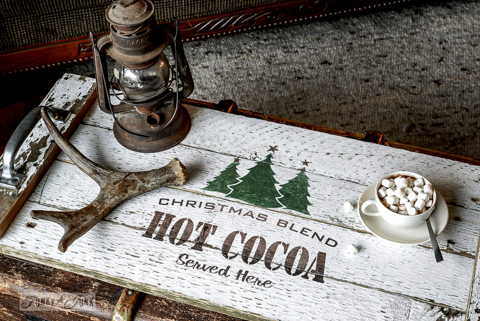 Ikea Wood Cutting Board Reclaimed Wood Hot Cocoa Tray With A Cool Lettering