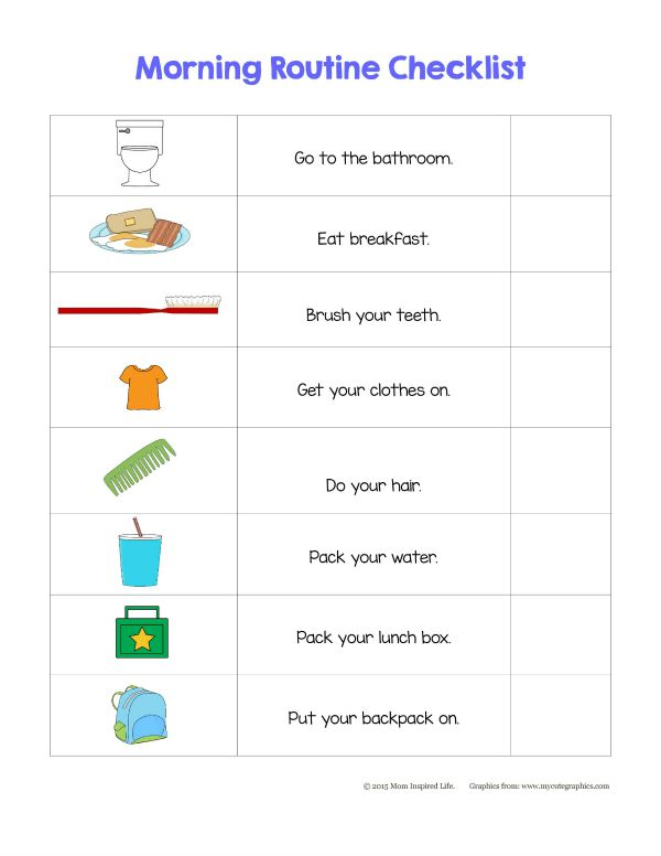 Teaching Responsibility Use a Morning Routine Checklist