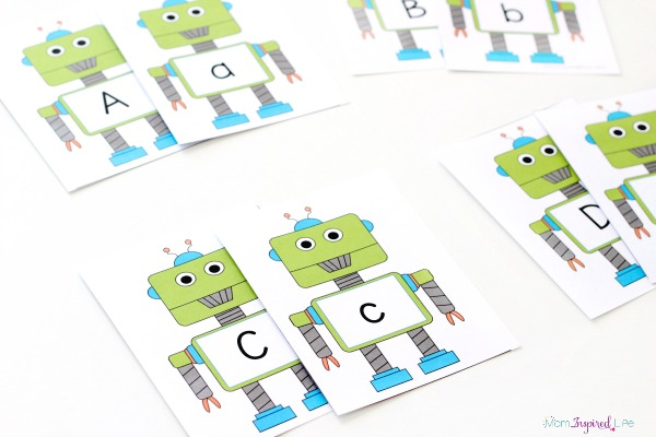 Robot Alphabet Card Games and Activities