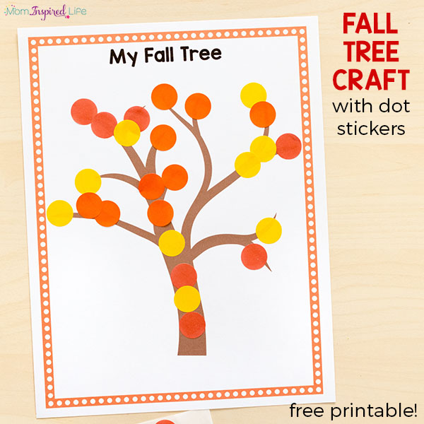 Fall Tree Craft with Dot Stickers