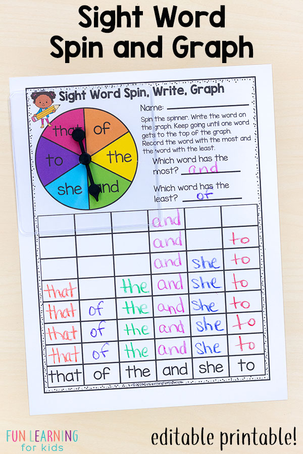 Editable Sight Word Games That Are Super FUN!