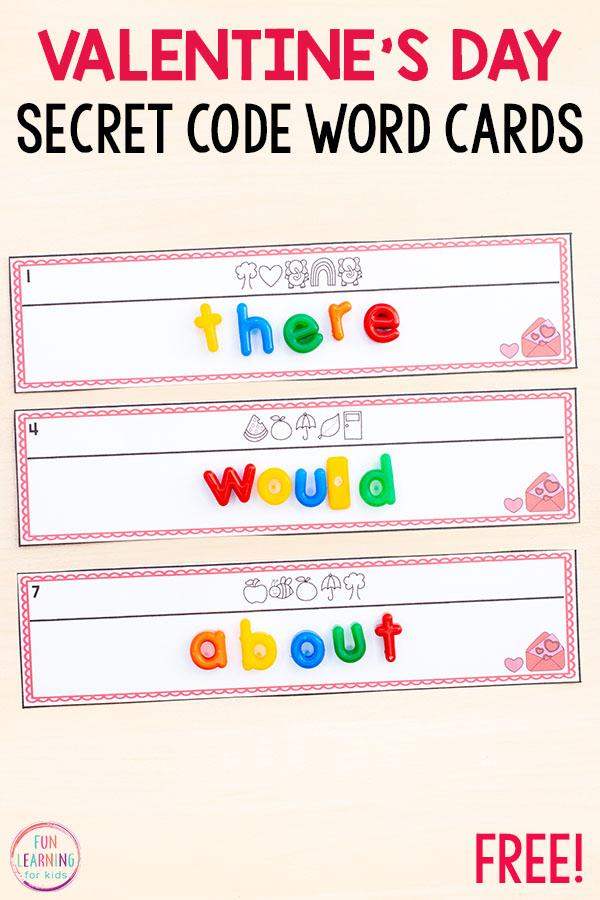 Valentine\u0027s Day Secret Code Words