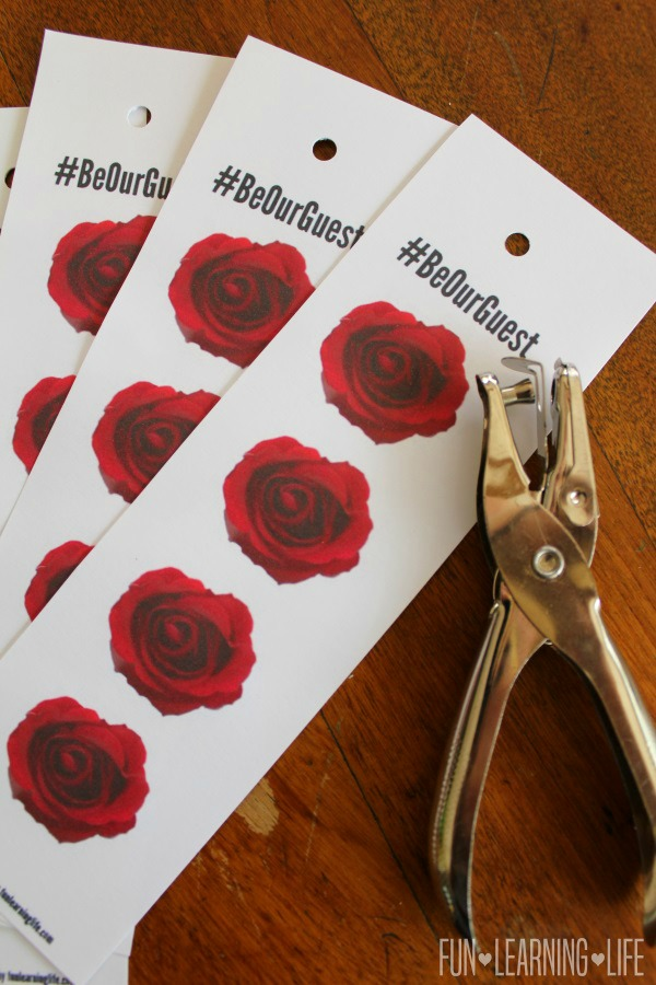 Enchanted Rose Printable Bookmark for Beauty and The Beast With