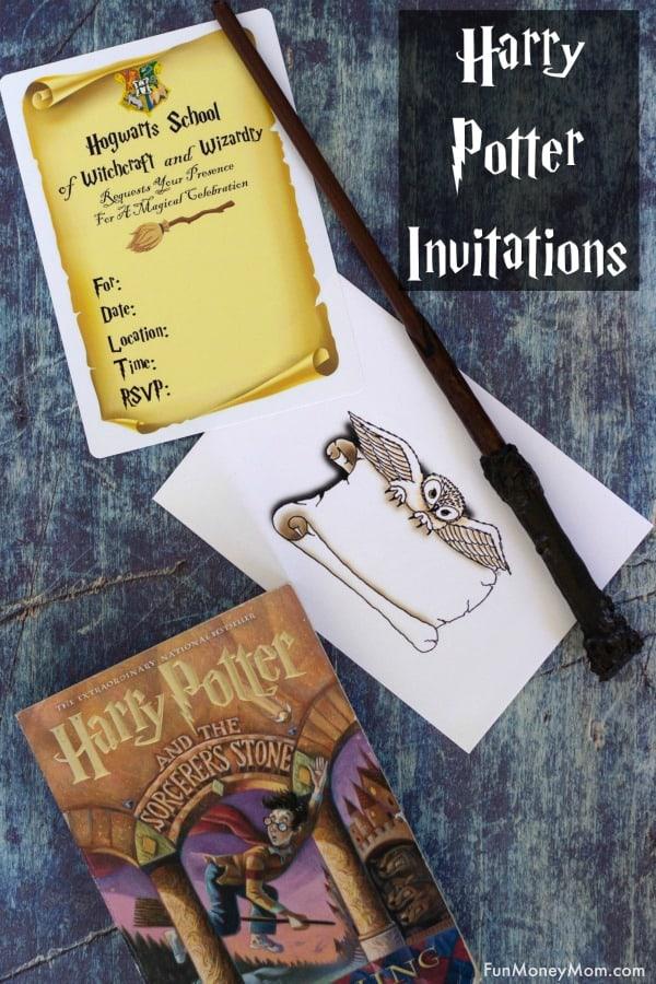 Easy Harry Potter Invitations - Fun Money Mom