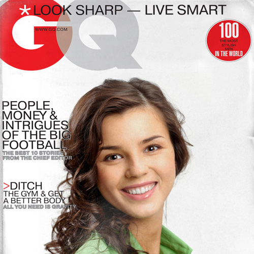 Put your photo on fake GQ Magazine cover
