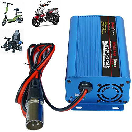 24V 5Amp Automatic Battery Charger With XLR Connector For Car
