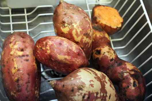 scrub potatoes well