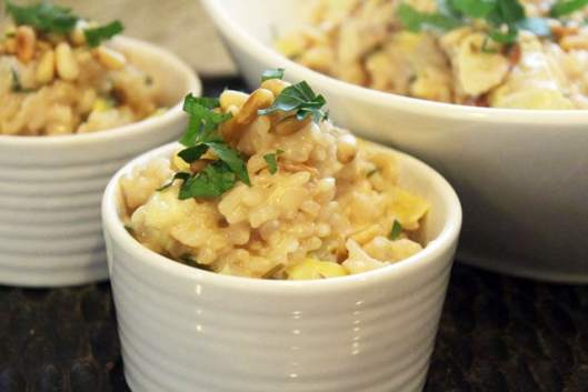 Small ramekin of risotto