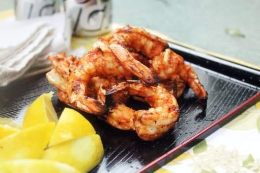 Shrimp piled up