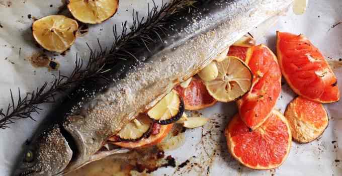 Whole Roasted Mackerel With Citrus and Rosemary