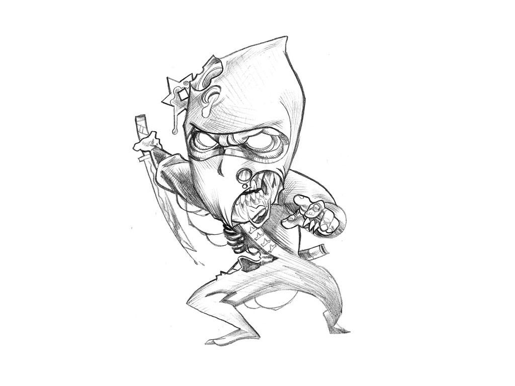 Wallpaper Chucky 3d Funny Cartoon Tattoo Drawings 2 Hd Wallpaper