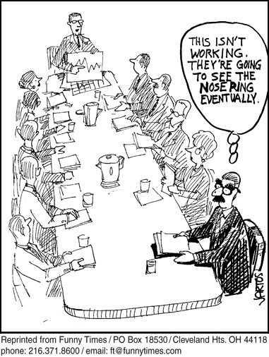Funny work business research  cartoon, April 07, 2010