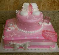 35 Yummy Baby Shower Cakes For Girls | Table Decorating Ideas