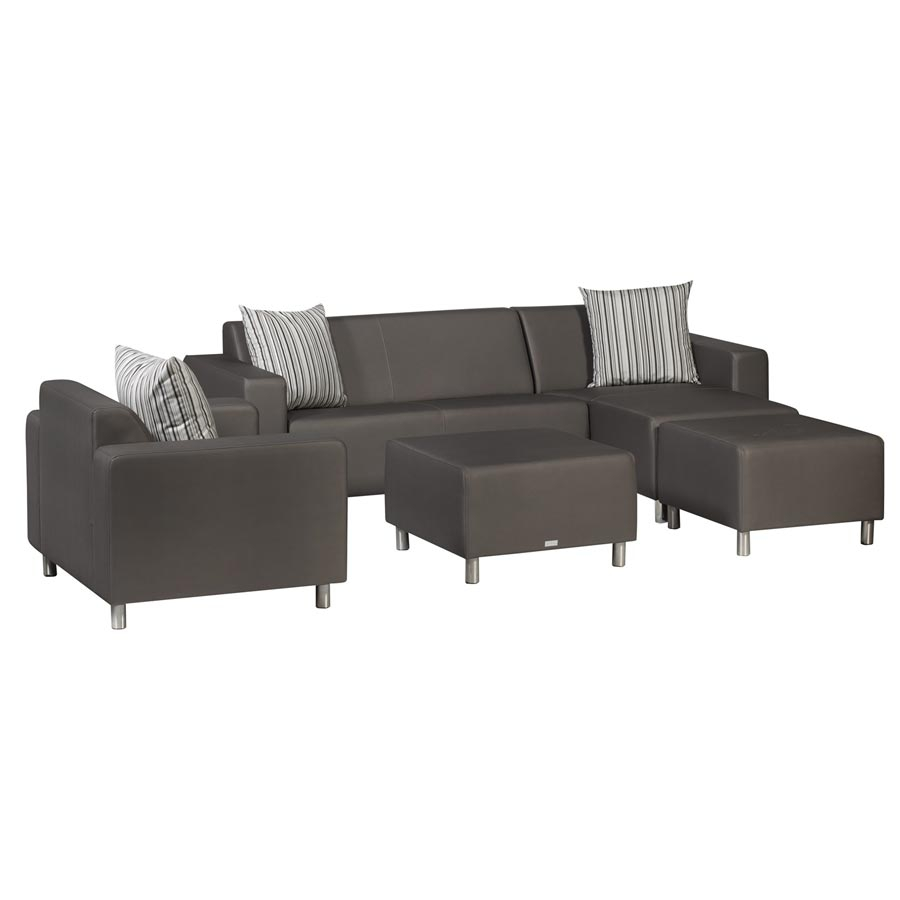 Rollershop Tv Sessel Tom Triniti® Tom Lounge Sofa Chaiselongue (rechts) - Meteor Braun