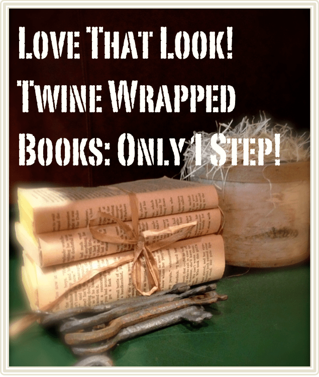 Decorating With Books: Wrapped In Twine | Fun. Simple. Beautiful.